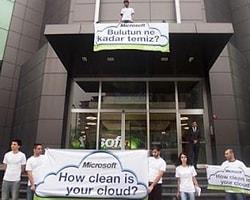 Greenpeace: 'Microsoft Bulutun Ne Kadar Temiz?'