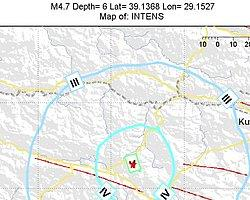 Kütahya'da Yine Deprem