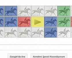 Google den Eadweard J. Muybridge ye özel logo