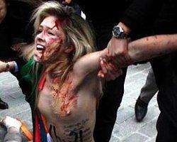 Femen oy sandığını çalmaya çalıştı