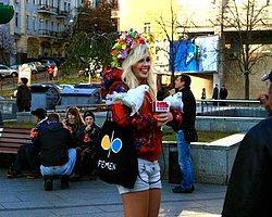 FEMEN İstanbul Eyleminde Arbede