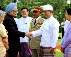 Hindistan Başbakanı Singh Burma'da