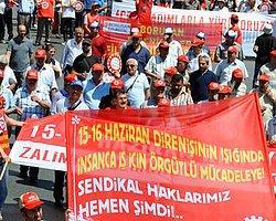 İşçiler '15-16 Haziran' İçin Taksim'e Yürüdü