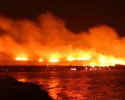Cunda Adası'nda Korkutan Yangın