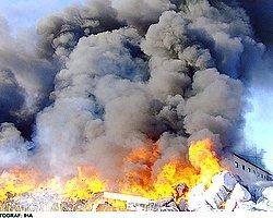 Atık Ayrıştırma Tesisinin Depolama Alanında Yangın