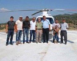 Yenipazar'a Helikopter Pisti