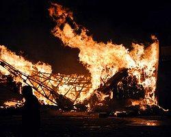 Çorum'da Fabrika Yangını