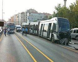 Metrobüs Kontrolden Çıktı: 1 Yaralı