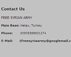 Özgür Suriye Ordusu'nun Merkez Üssü Hatay'mış