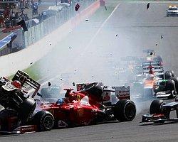 F1′de inanılmaz kaza!