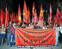 Taksim'de ' Suriye'de Savaşa Hayır' Eylemi