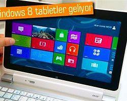 Su Geçirmeyen Windows 8 Tablet Yolda