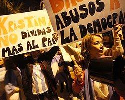 Arjantin Halkı Sokağa Döküldü