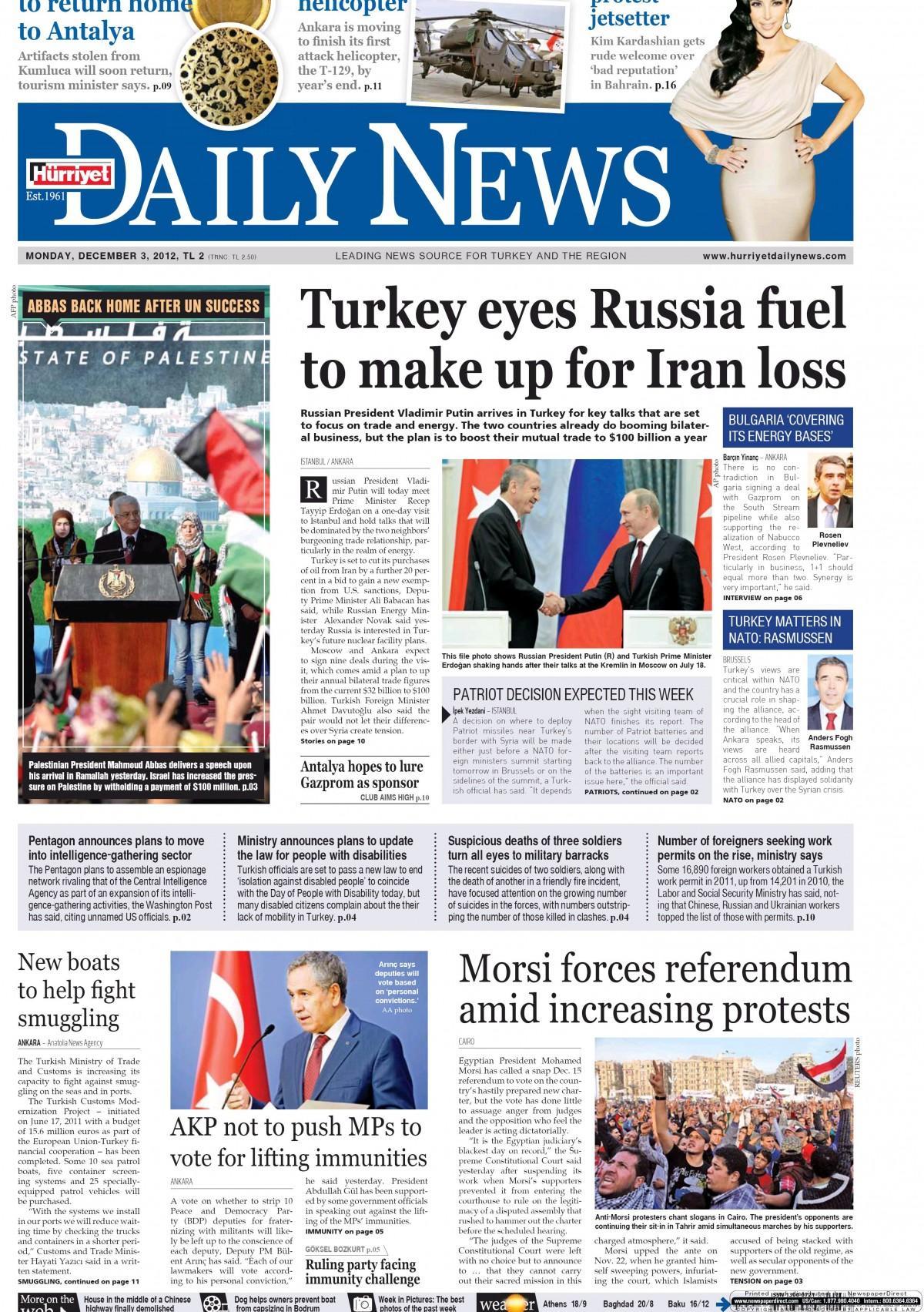 Hurriyet daily news - 3 15eubat 2015