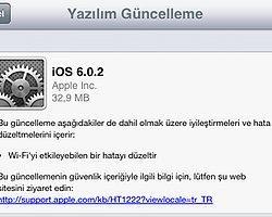 iOS 6.0.2 Güncellemesi Çıktı