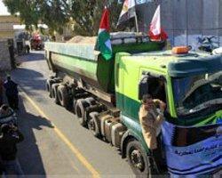 Mısır'dan Filistin'e İnşaat Malzemesi Girdi
