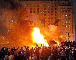 Tahrir'de 13 Polis Yaralandı