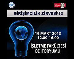 İstanbul Üniversitesi Girişimcilik Zirvesi '13 - 19 Mart'ta!