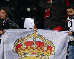 İnönü'de Real Madrid Bayrağı!
