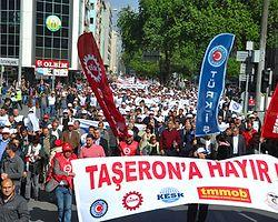 15 Bin İşçi Taşerona Karşı Yürüdü