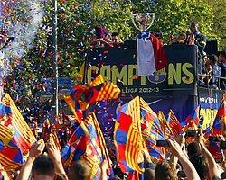 Barcelona, 22. Lig Şampiyonluğunu Taraftarlarıyla Kutladı