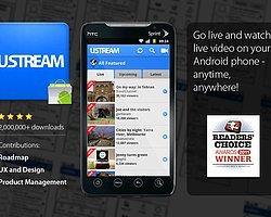 Ustream İle Akıllı Telefonunuzdan Canlı Yayın Yapın
