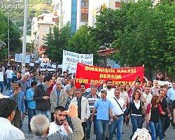 Tunceli'de Oturma Eylemine Müdahale