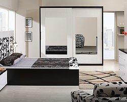 Siyah-Beyaz Yatak Odası