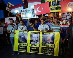 İstanbul'da Mursi'ye Destek Gösterisi