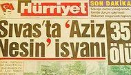 2 Temmuz 1993'teki Madımak Faciası Sonrası Türk Basınından Manşetler ve Yazılar