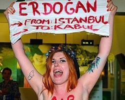 FEMEN'den Sabiha Gökçen'de Üstsüz Eylem!