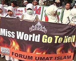 Endonezya'da Güzellik Yarışması Öfkesi: Miss World Cehenneme Git