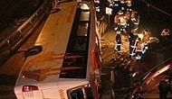 Maslak'ta Yolcu Otobüsü Devrildi: 2 Ölü