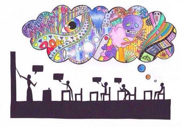 11. Düşüncelerimiz, Fikirlerimiz, Hayallerimiz Bir Sınıfın İçinde Boğuluyor.