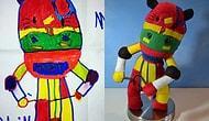 20 Harika Örnekle Çocuk Resimlerinin Oyuncağa Dönüşmesi