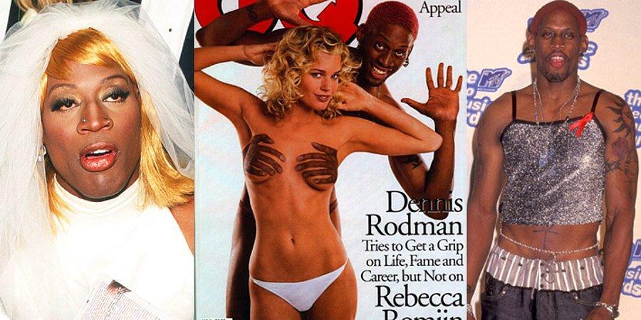 Naked dennis rodman urges fashionistas to think ink, not mink