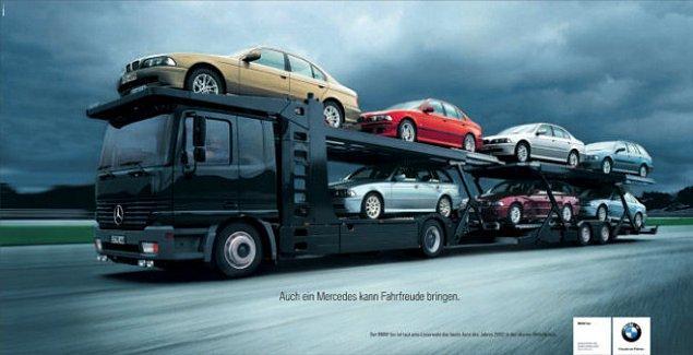 8. BMW gaza gelince Mercedes'e saldırır
