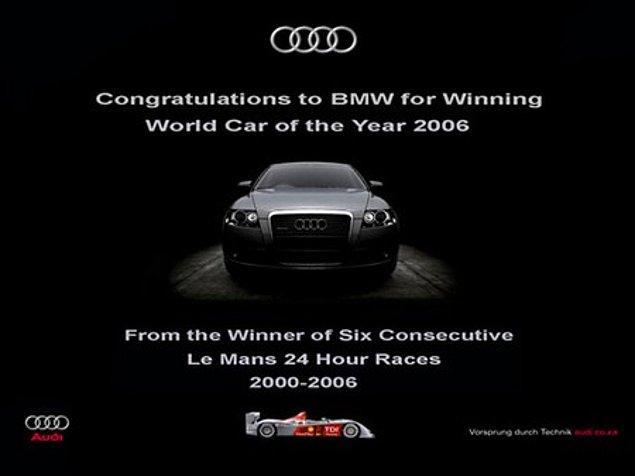 11. Audi durur mu, yapıştırmış cevabı