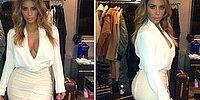 Kim Kardashian'a Elbise Şoku