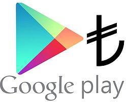 Google Play'de Artık TL ile Alışveriş Mümkün
