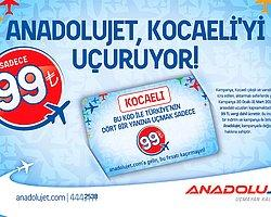 Anadolujet'in Kocaeli Aktarma Kampanyası İle 99 Tl'ye Uçmayan Kalmayacak