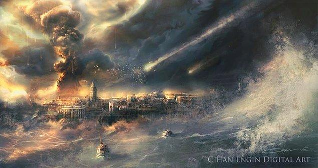1. Meteor Yağmuru ve Dev Dalgalar Altında İstanbul'da Kıyamet