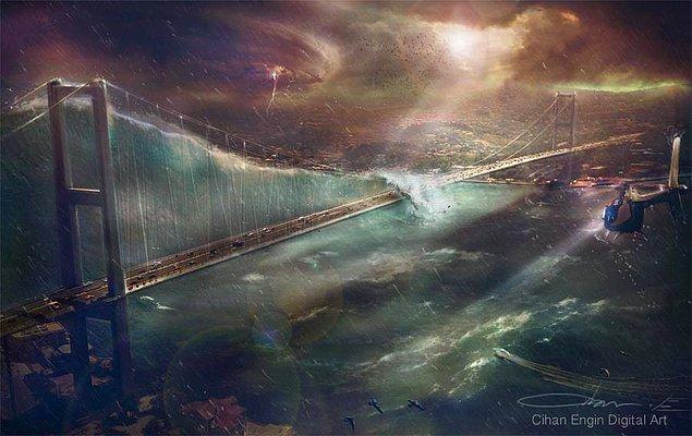 4. Boğaz Köprüsü Dev Tsunami Dalgaları Altında