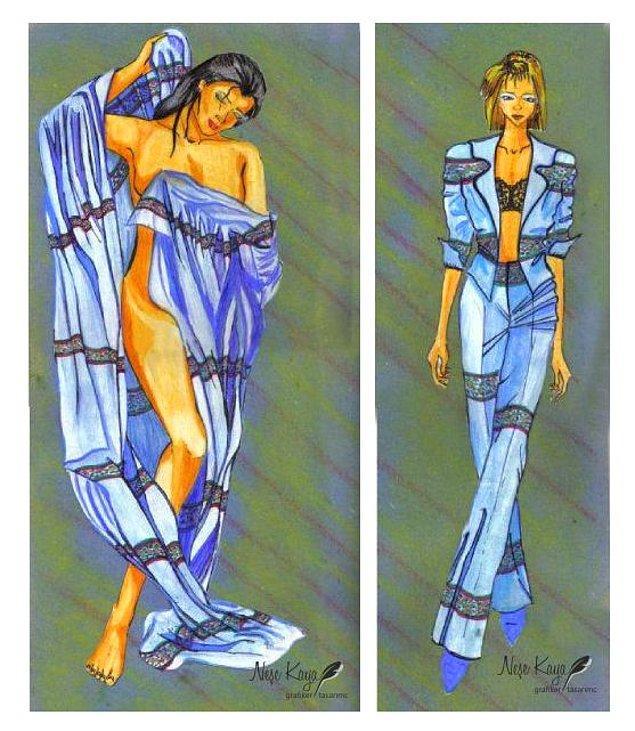 Kumaş tasarımı ve kıyafet tasarımına uyarlamsı