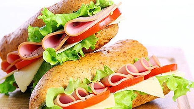 7. Ekmek arası yemek.