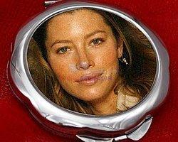 1-)Kişiye Özel Fotoğraflı Çiçek Şeklinde El Aynası;