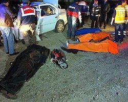 Katliam gibi kaza!.. 4 ölü, 1 yaralı!