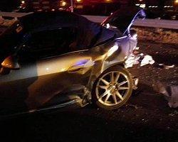 Aşırı hız kaza getirdi