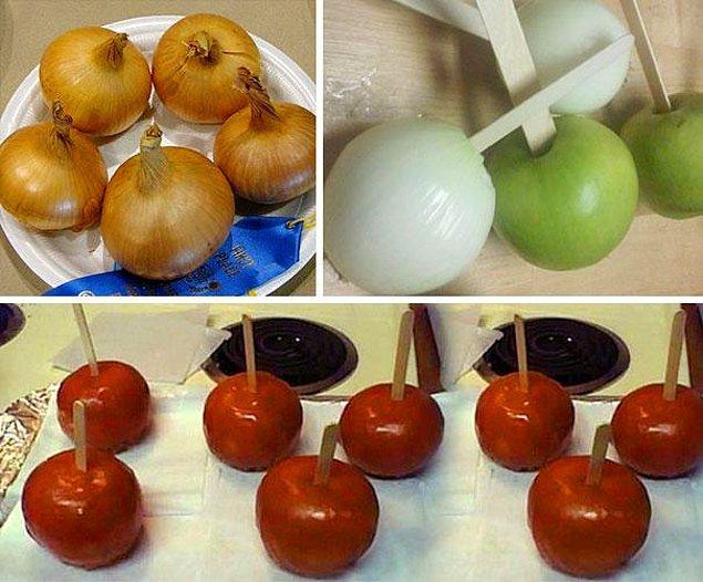 23. Evde kendiniz soğan şekerleri yapın