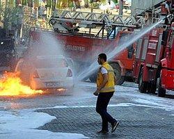 Yanan Polis GATA'ya Sevk Edildi